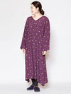 Floret Embroidery Long Dress -Dresses-Ametsuchi