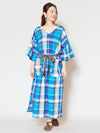 African Plaid Big Silhouette Dress-Ametsuchi