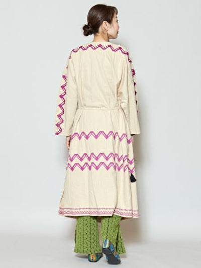 Embroidered Bohemian Long Cardigan-Ametsuchi