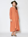 Plain Crepe Tiered Kaftan Dress -Dresses-Ametsuchi