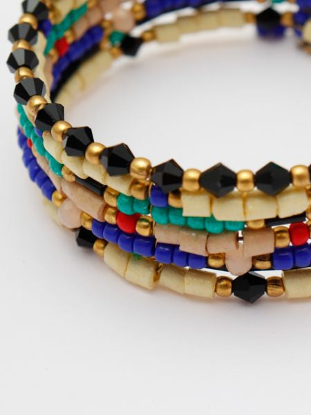 Native American Inspired Color Beads Bangle