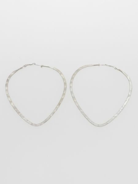 Large Metal Hoop Earrings