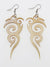 Openwork Horn Earrings