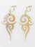 Openwork Horn Clip Earrings