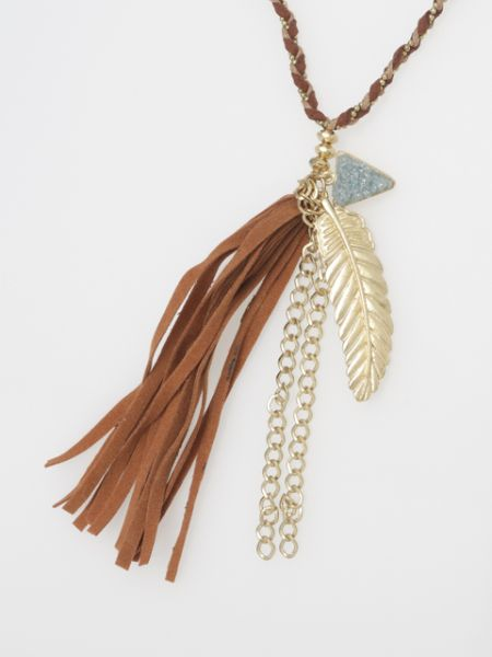 Bohemian Feather Necklace-Necklaces-Ametsuchi