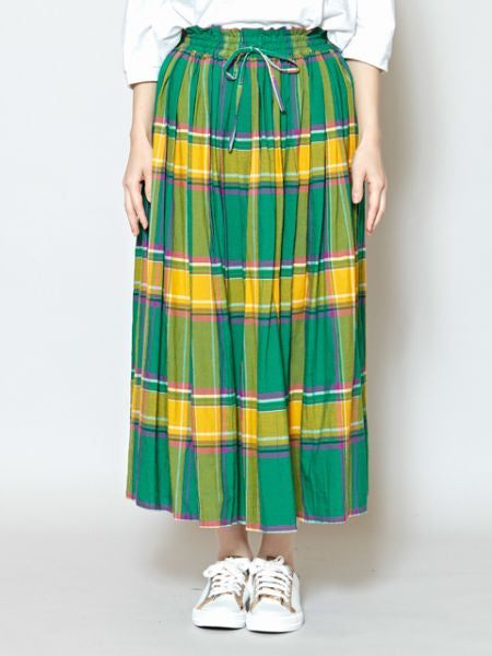 Guatemalan Color Inspired Plaid Maxi Skirt