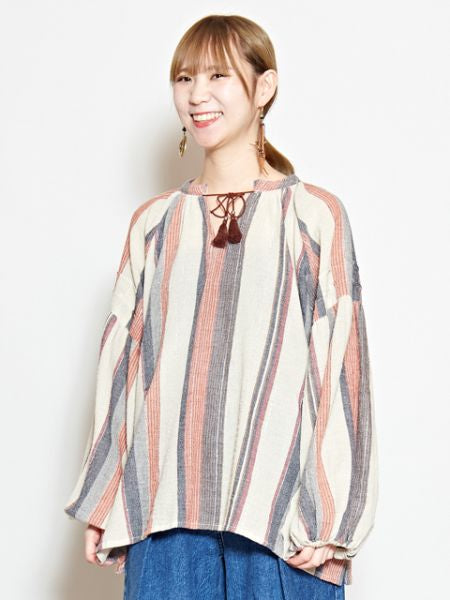 Southern Indian Stripe Top-Ametsuchi