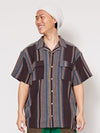 Stripe Cotton Shirt-Ametsuchi