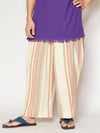 Southern Indian Woven Cotton Stripe Pants-Pants & Shorts-Ametsuchi