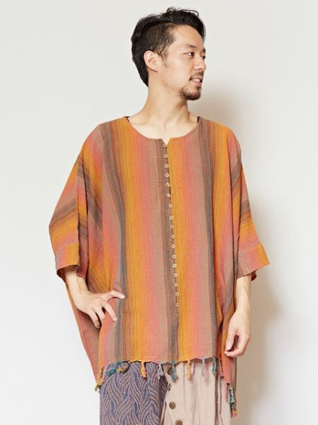 Indian Woven Cotton Top-Ametsuchi