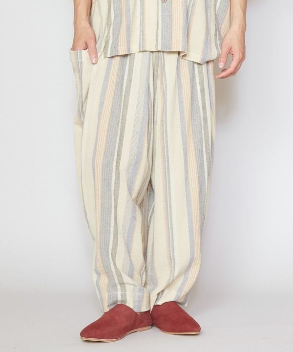 Textured Stripe Pants-Ametsuchi