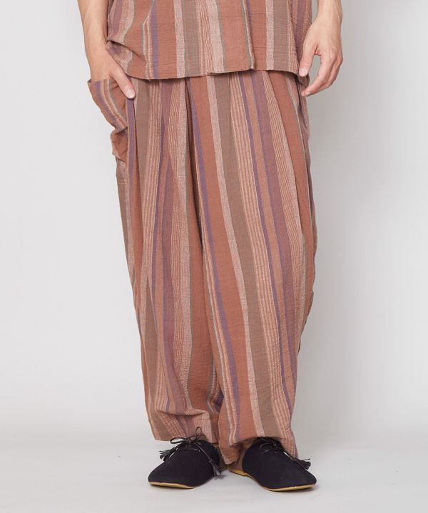 Textured Stripe Pants