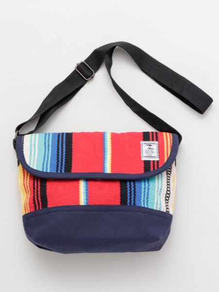 Mexican SARAPE Pattern Hand Woven Rug Shoulder Bag