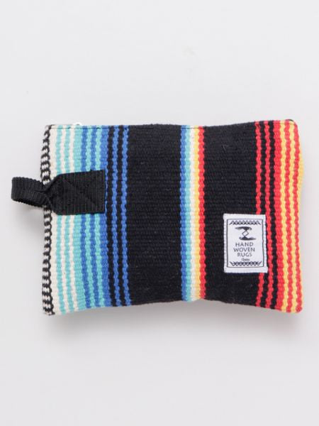Mexican SARAPE Pattern Hand Woven Rug Pouch
