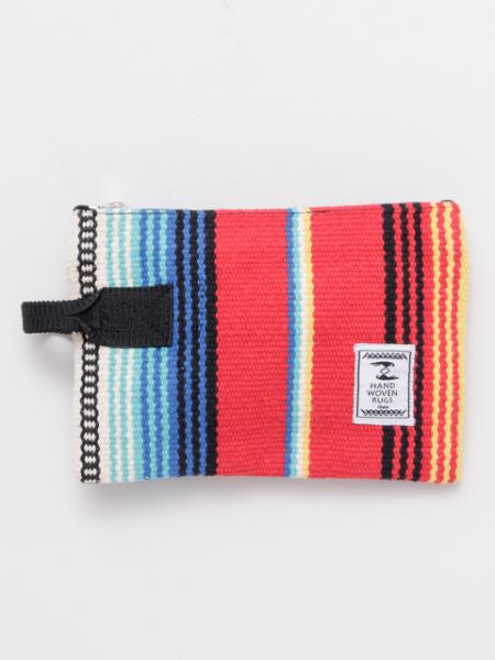 Mexican SARAPE Pattern Hand Woven Rug Pouch-Ametsuchi