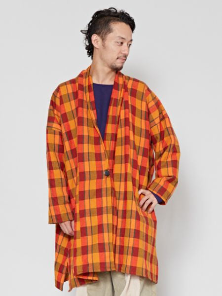 Woven Plaid Long Cardigan