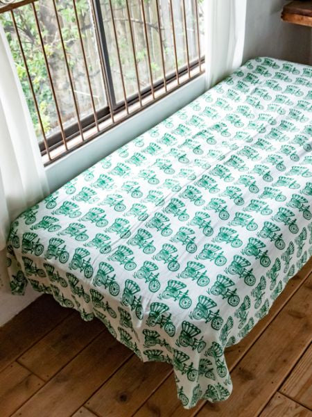 Indian Daily Motif Bed Cover | Ropa de cama de tela múltiple-Ametsuchi