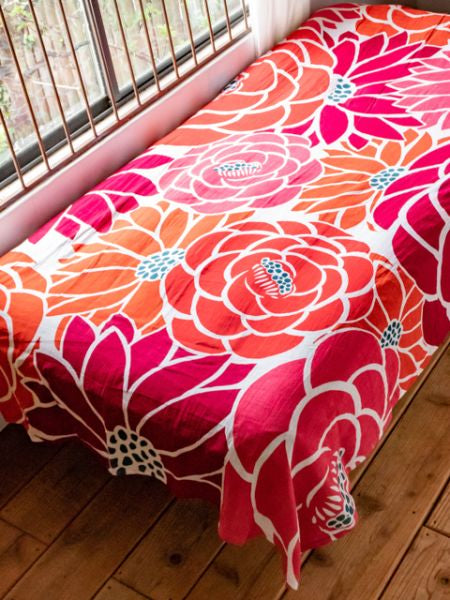 Retro Flower Multi Cloth | Bed Cover
