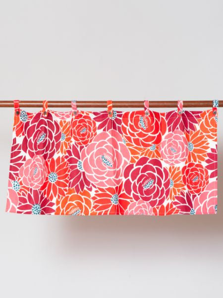 Retro Flower Short Curtain