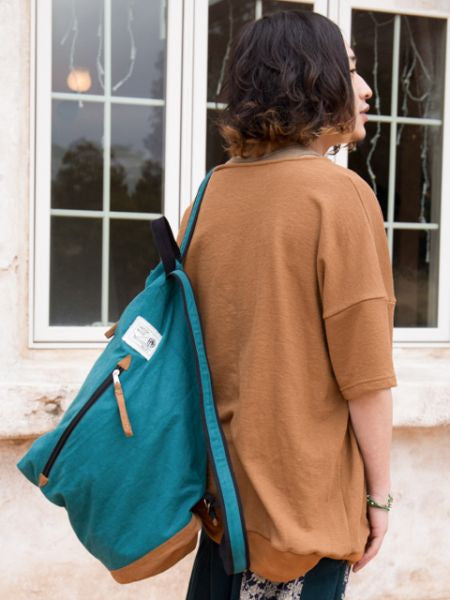 INDIA MADE Cotton Backpack-Ametsuchi
