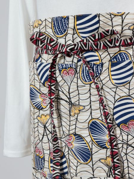 African Fabric Pattern Short Apron
