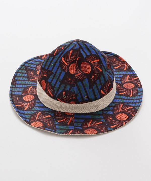 African Pattern Reversible Pointed Hat