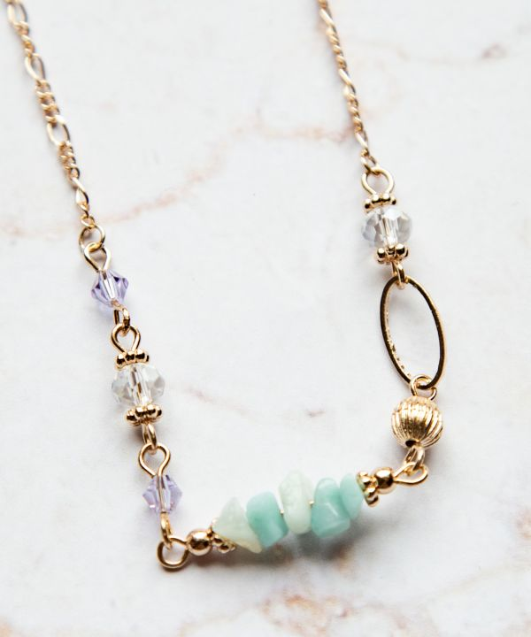 Pebble Gems Necklace -Necklaces-Ametsuchi