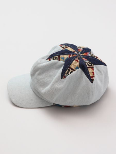 Hexagram Denim Work Cap-Caps&Hats-Ametsuchi
