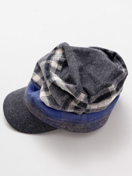 Plaid Patchwork Cap