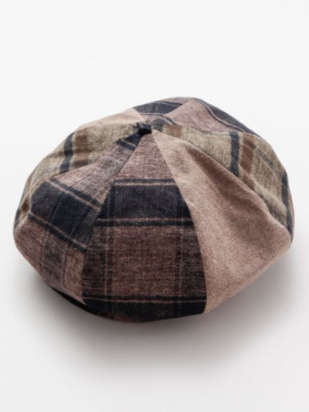 Plaid Patchwork Beret