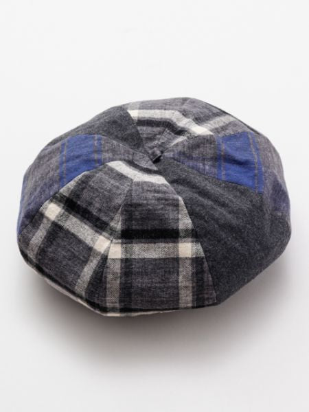Plaid Patchwork Beret-Caps & Hats-Ametsuchi