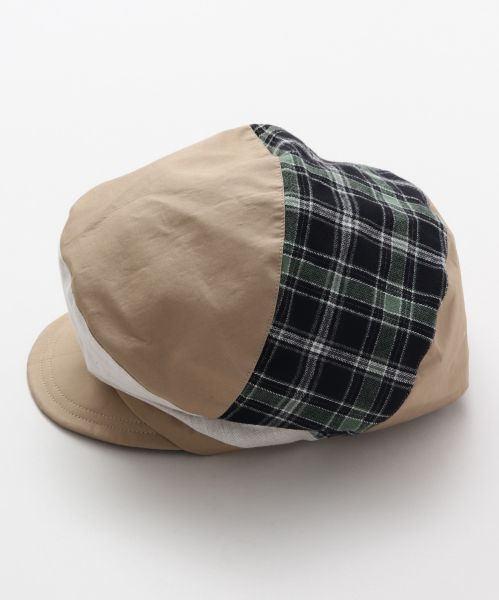 Patchwork Fluffy Cap-Caps & Hats-Ametsuchi