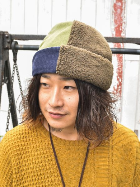 Patchwork Cap, Neck Warmer 2 Way-Ametsuchi