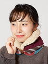 Patchwork Cap, Neck Warmer 2 Way -Scarves-Ametsuchi