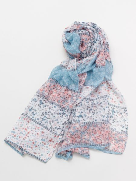 Flower x Stripe Scarf