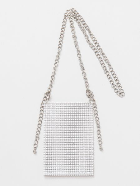 Rhinestone Minimal Shoulder Bag