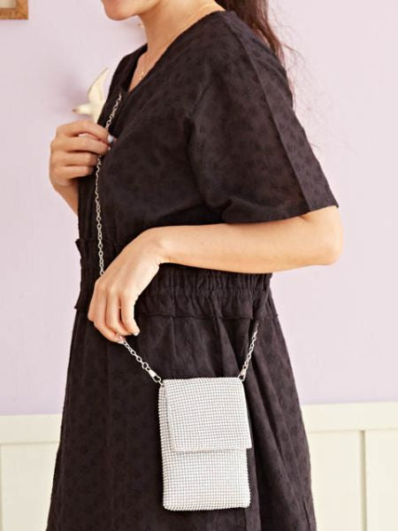 Strass Minimal Shoulder Bag-Ametsuchi