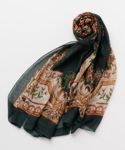Rose Relief Stole -Scarves-Ametsuchi