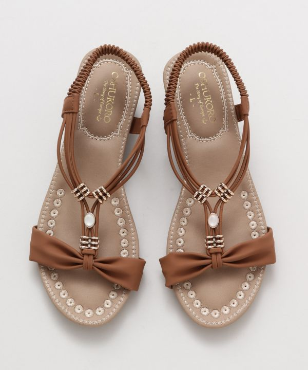 Cappuccino Wedge Sandals