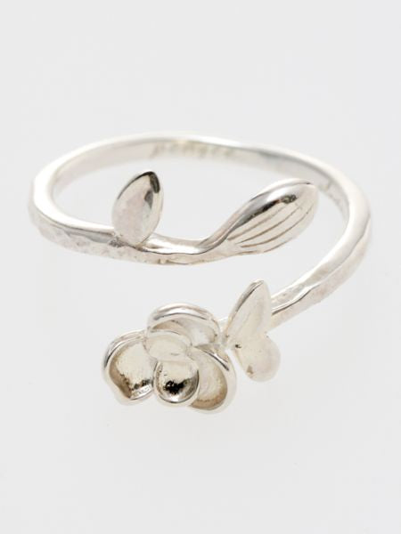 Pansy Silver Ring-Rings-Ametsuchi