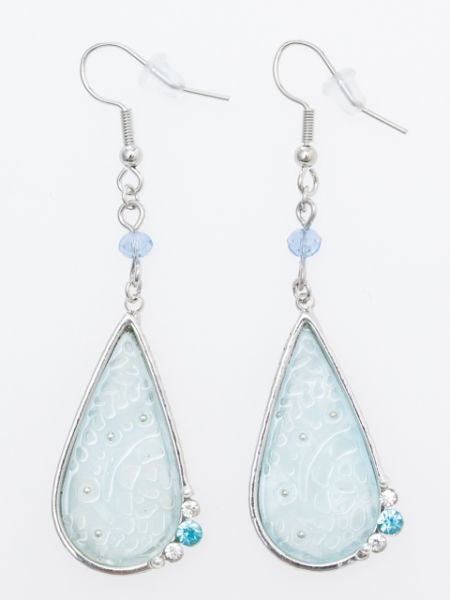 Floral Drop Earrings-Ametsuchi