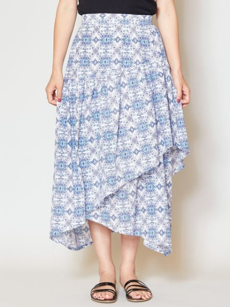 Andalusia Asymmetrical Skirt-Skirts-Ametsuchi