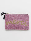MERCI Bead Embroidered Pouch-Ametsuchi