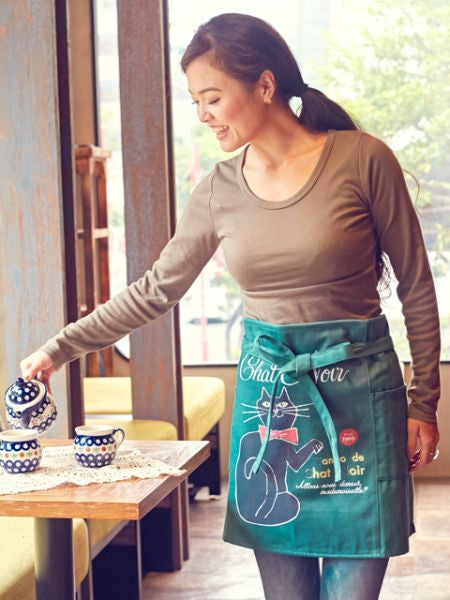 Retro Design Short Apron-Ametsuchi