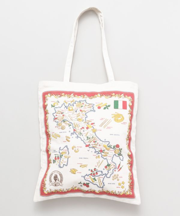 Retro Map Tote Bag