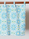 Portuguese Tile Pattern NOREN Café Curtain-Home Decor-Ametsuchi