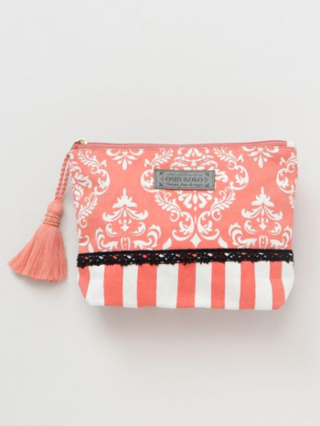 Damask Pattern Printed Pouch