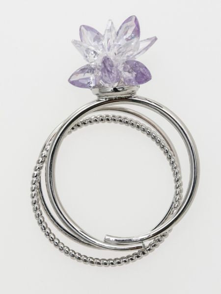 Plum Sugar Ring Set of 3