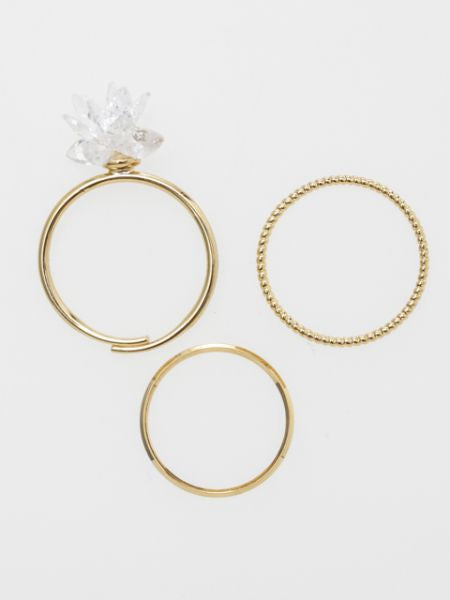 Plum Sugar Ring Set of 3-Rings-Ametsuchi