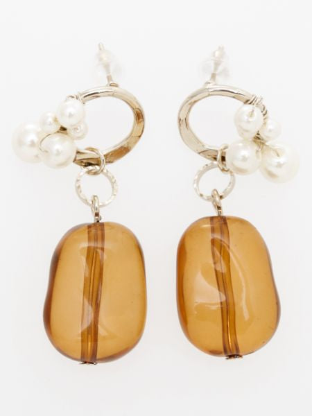 Antique Feel Beads Earrings-Ametsuchi